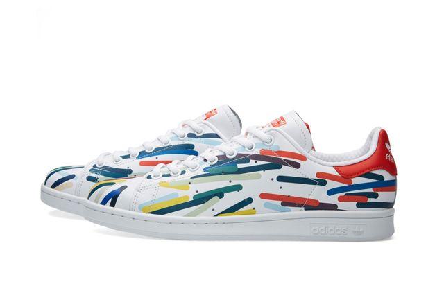 Adidas Stan Smith Whiteredblue 2