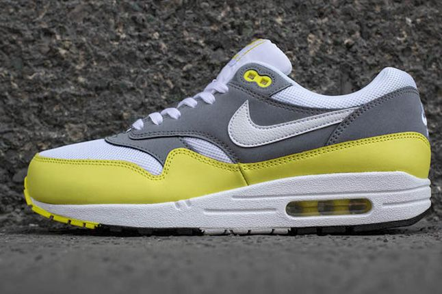 Nike Air Max 1 Essential Cool Grey Yellow 6 1