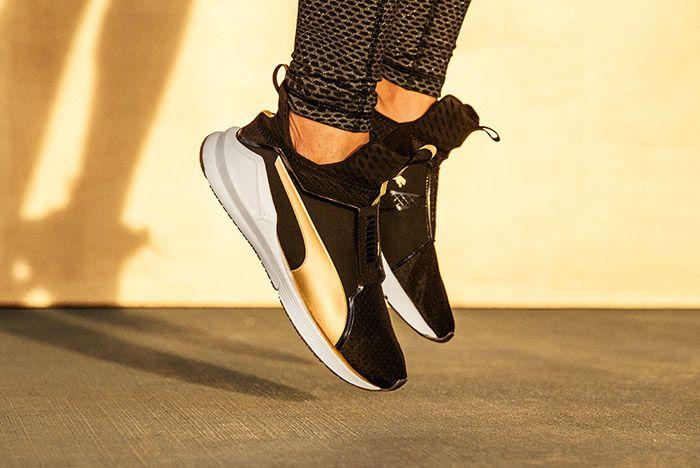 Puma Fierce Black Gold On Feet