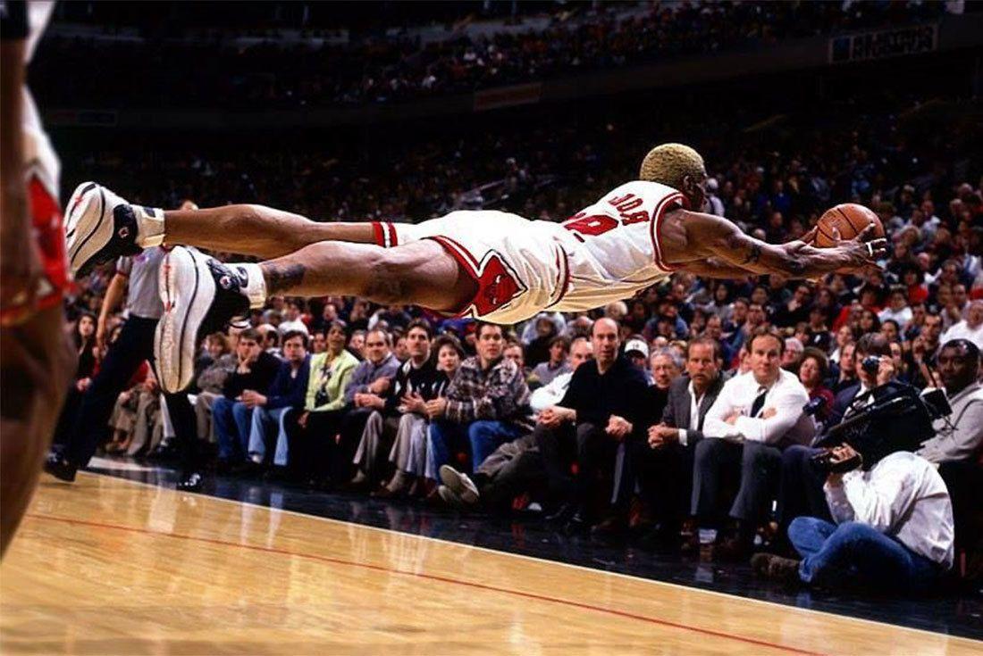 Dennis Rodman Converse Dive