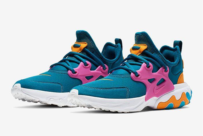 Nike Air Presto React Summer Blue Pink Orange