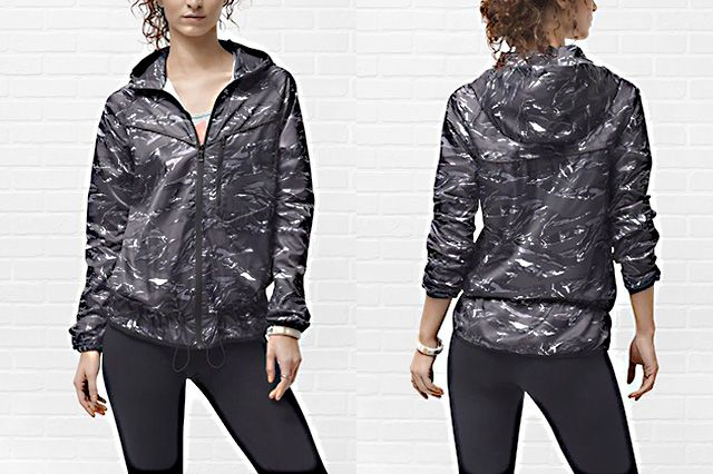 Nike Packable Camouflage Trail Womens Jacket Black Camo