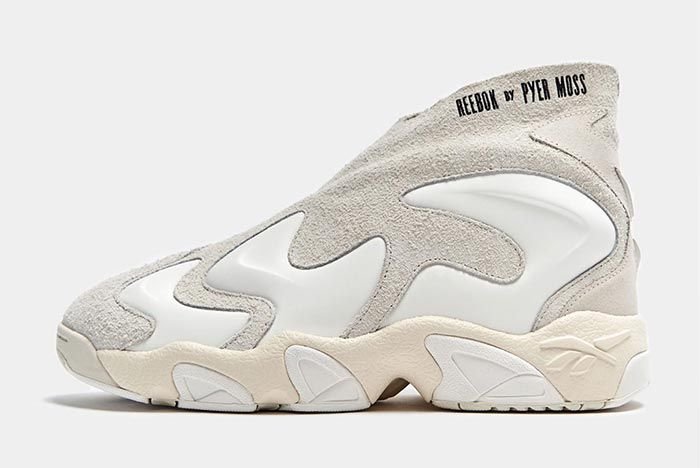 Reebok Pyer Moss Experiment 3 Triple White Lateral Side Shot