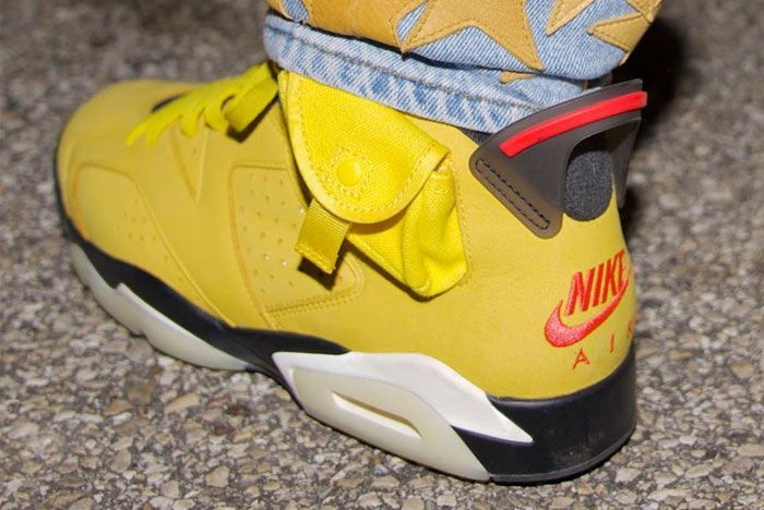 Travis Scott Air Jordan 6 Mustard Yellow Heel