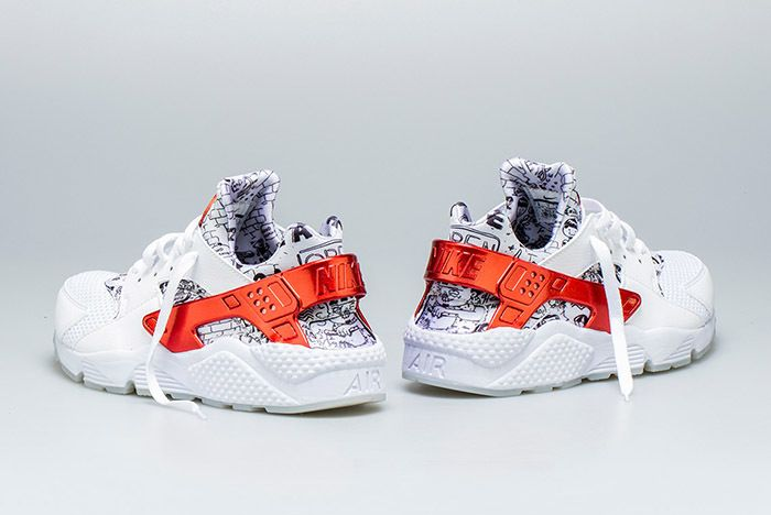 Nike Air Huarache Qs White Red Shoe Palace 4 Sneaker Freaker