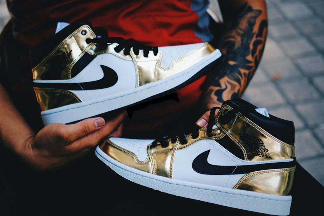 "Air Jordan 1 Mid SE ""Metallic Gold"""