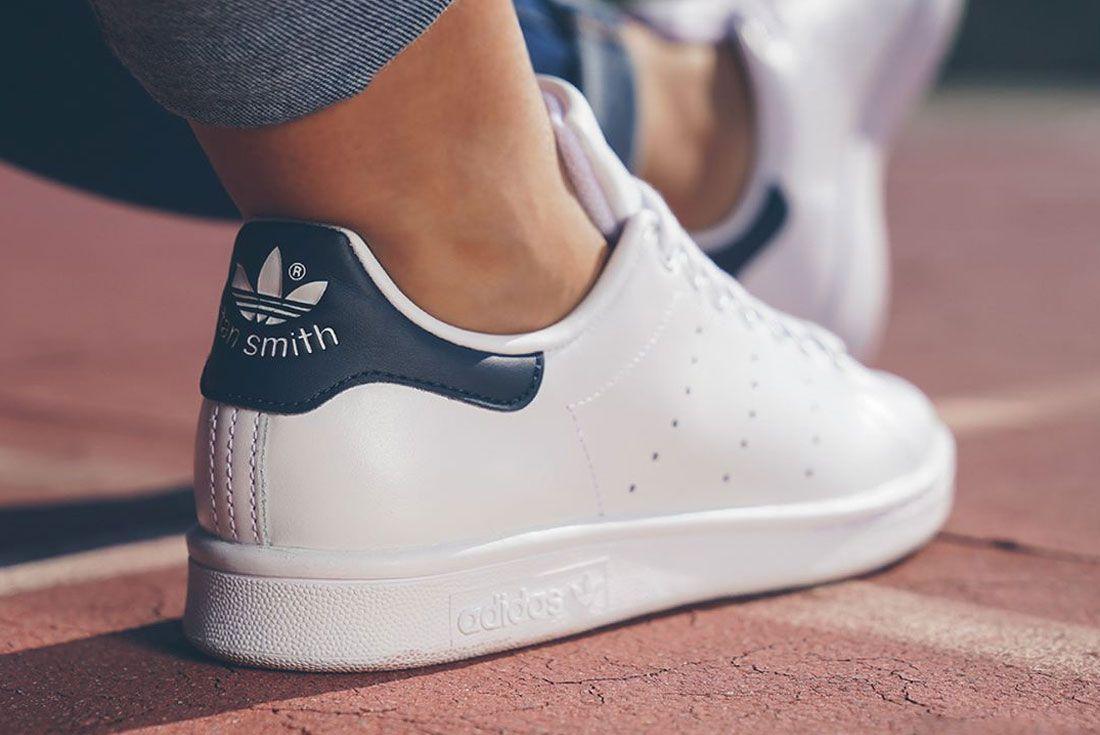 Adidas Stan Smith White Heel
