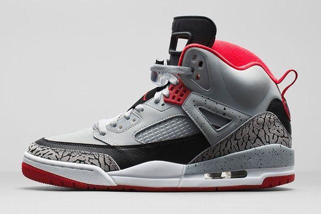 Air Jordan Spizike Wolf Grey Gym Red Bump 5
