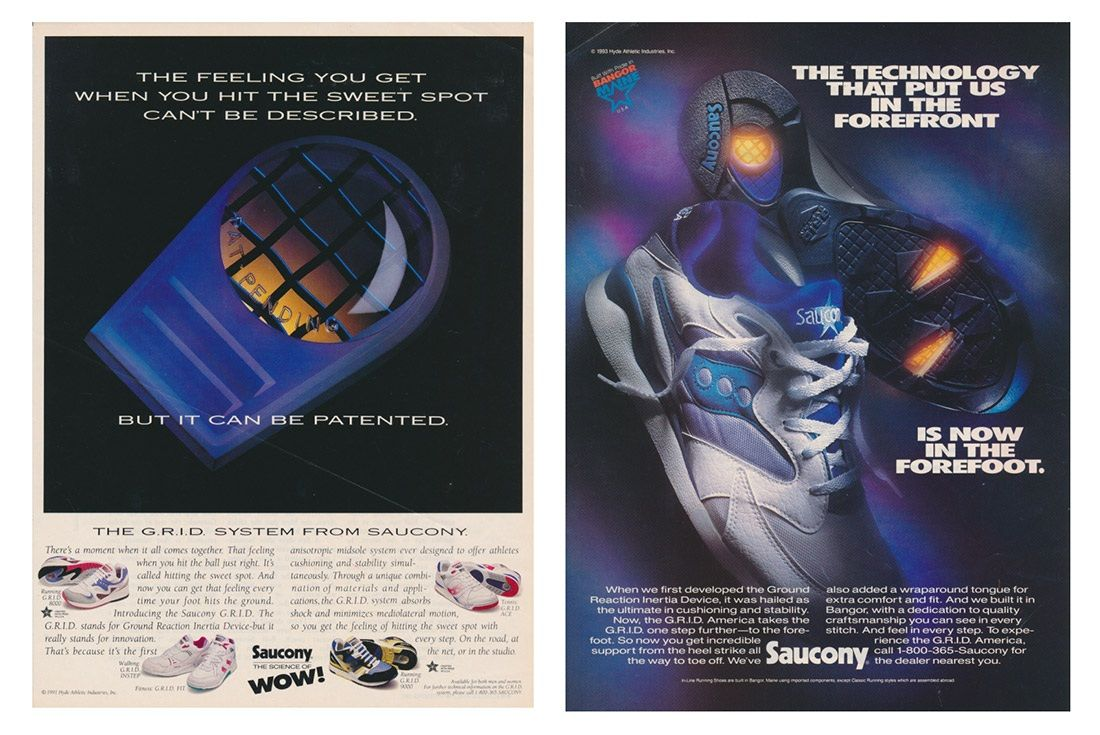 Material Matter Saucony Grid Advertisements