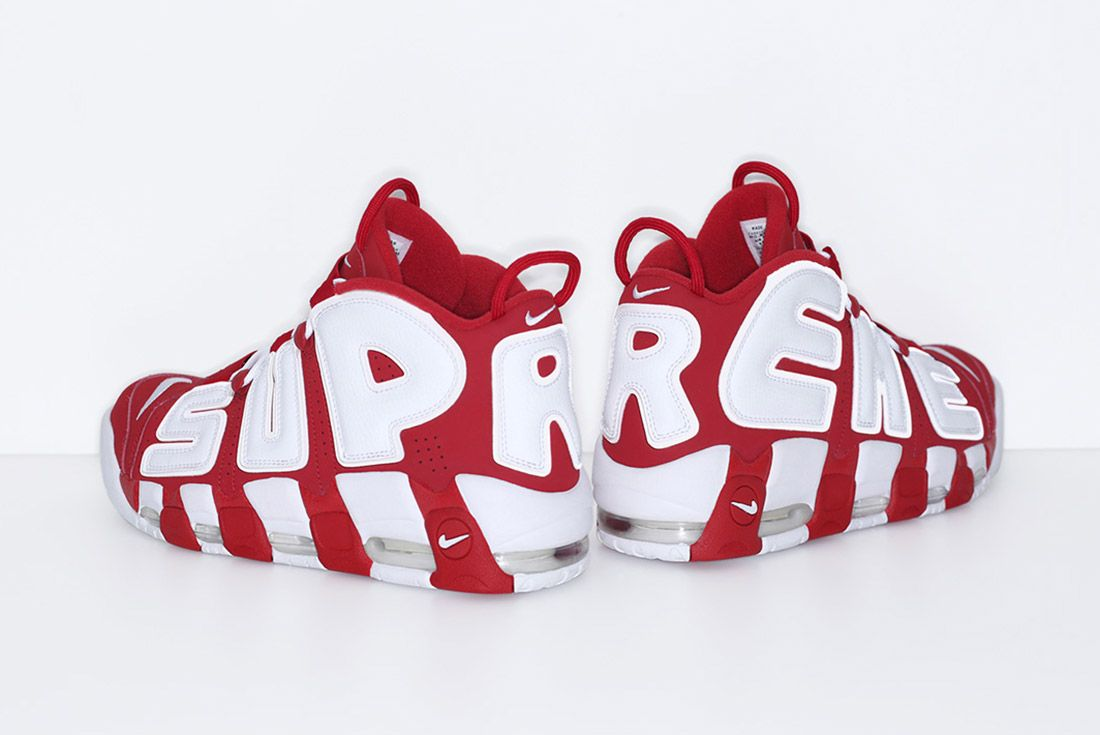 Supreme Nike Air More Uptempo Red 1