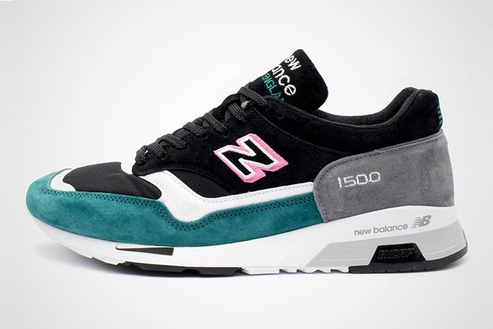 New Balance 1500 Made In England Teal Pink White Black 2
