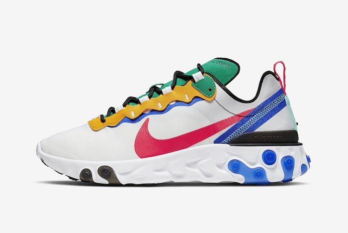 Nike React Element 55 White Multicolour Lateral