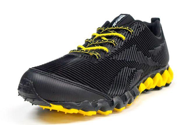 Reebok Zigmaze Quater Front Black Yellow 1