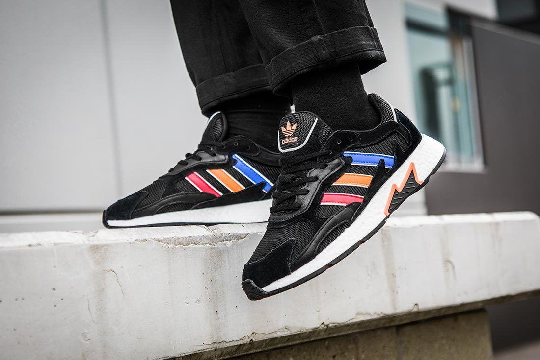 Black Multicolour Adidas Tresc Run Left Side Shot 1