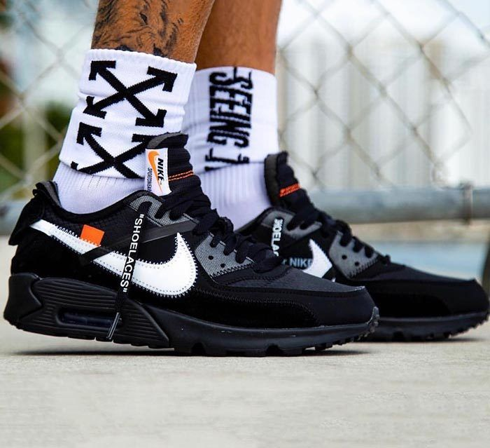 Off White X Nike Air Max 90 Black White Release Date 1