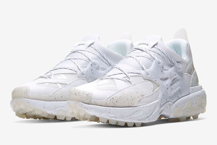Undercover Nike React Presto White Three Quarter Lateral Side Shot