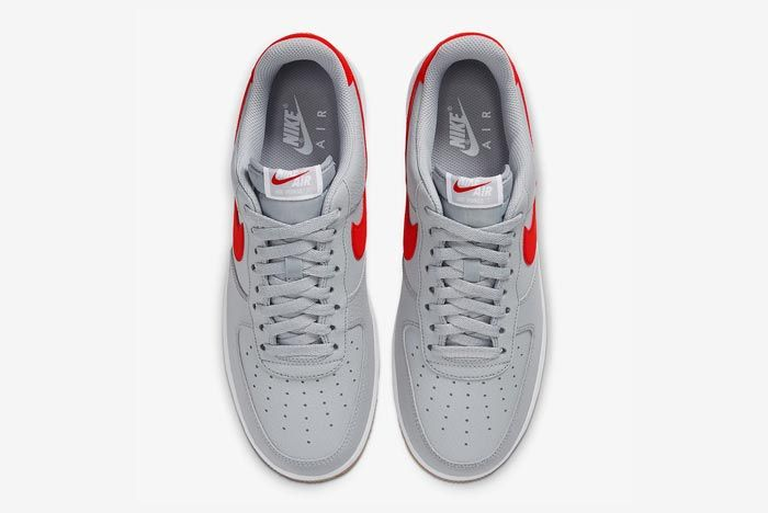 Nike Air Force 1 Wolf Grey University Red Top