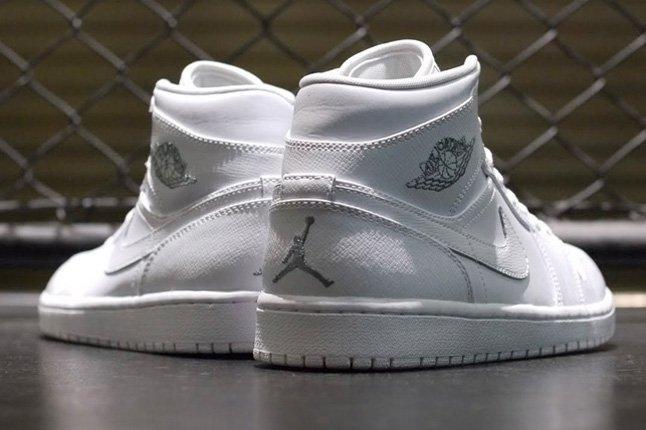 Air Jordan 1 White On White Heels 1