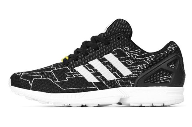 Adidas Originals Zx Flux Black Running White Onix 5