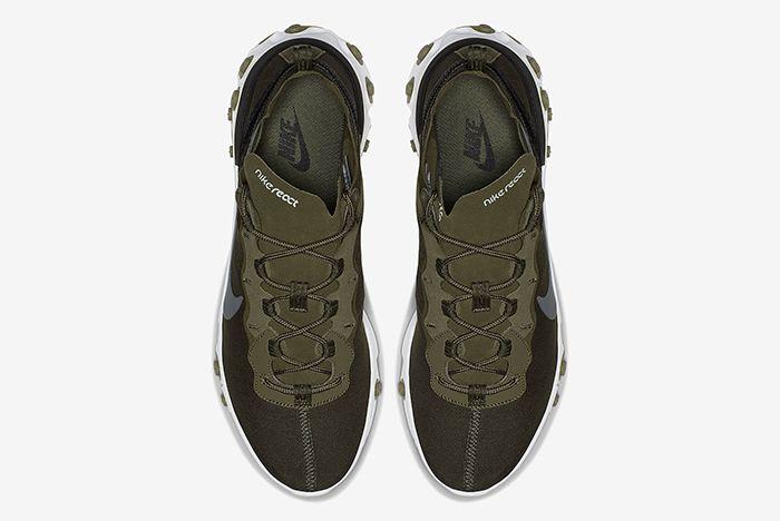 Nike React Element 55 Olive Green White 4