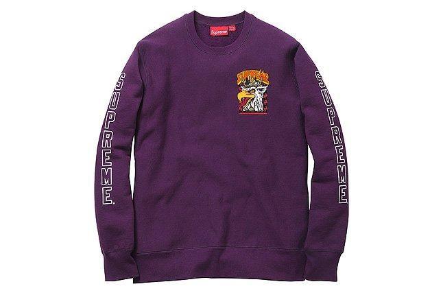 Supreme Cliver Crewneck Purple 1