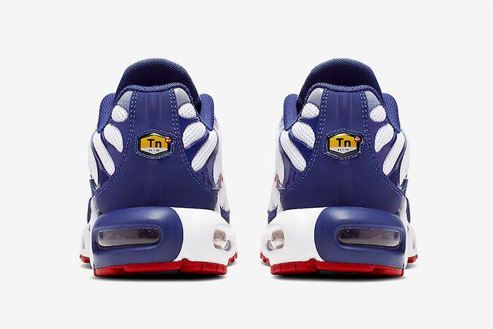 Nike Air Max Plus White Navy Red Heel