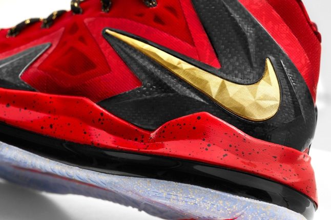 Nike Lebron X Elite Backtoback Pack Red Heel Detail 1