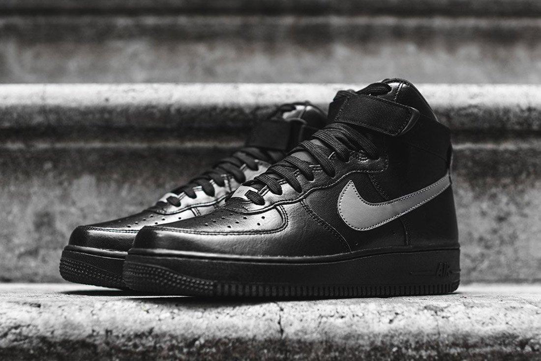 Nike Air Force 1 High Lv8 Black Silver 2