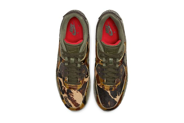 Nike Air Max 90 Cargo Khaki University Red Cu0675 300 Release Date Top Down