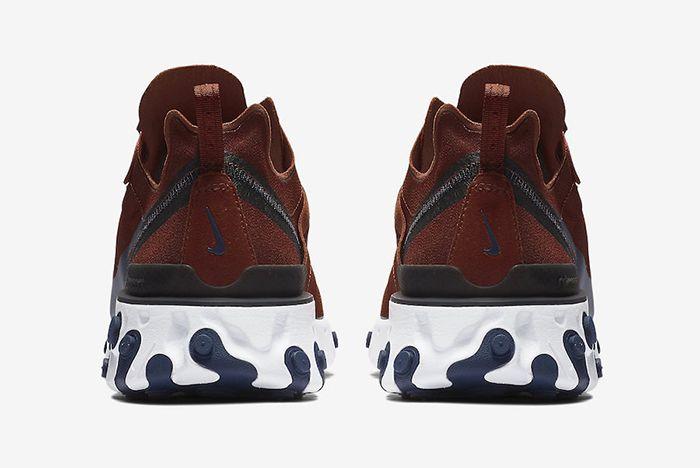 Nike React Element 55 Brown Navy 3