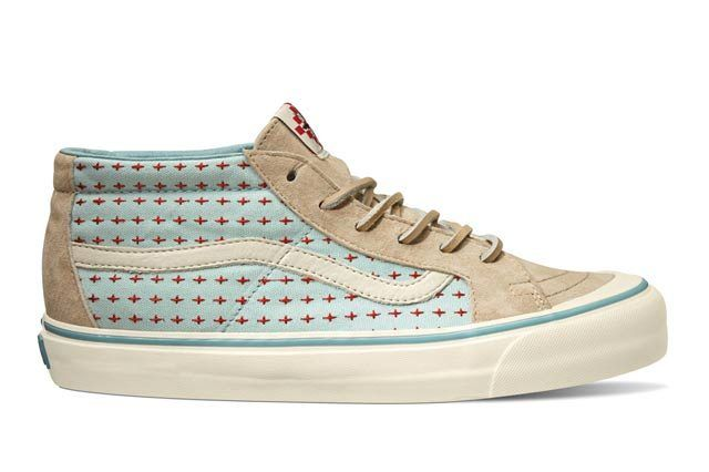 Vault By Vans X Taka Hayashi Th Sk8 Mid Lx Cross Pattern Khaki Spring 2015