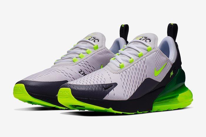 Nike Air Max 270 Platinum Tint Volt Pair
