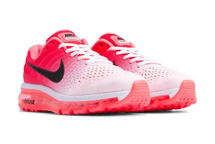 Nike Air Max 2017 White Hot Punch 849560 103 Front Angle