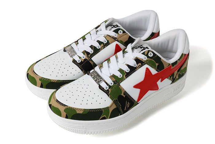Bape Bapestar Low Green Camo Left Side Shot