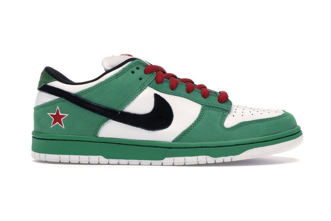 Heineken Nike Sb Dunk Low 304292 302 Lateral