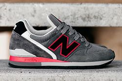 New Balance 996 Grey Red Thumb