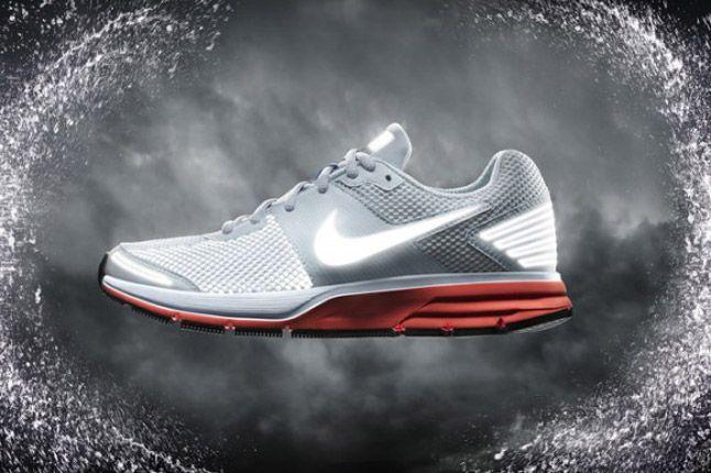 Nike Pegasus 29 Shield 2012 Grey Red Side 1