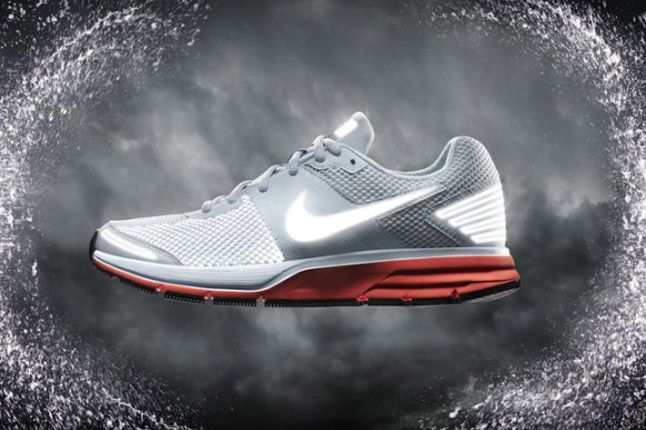 Nike Pegasus 29 Shield 2012 Grey Red Side 1