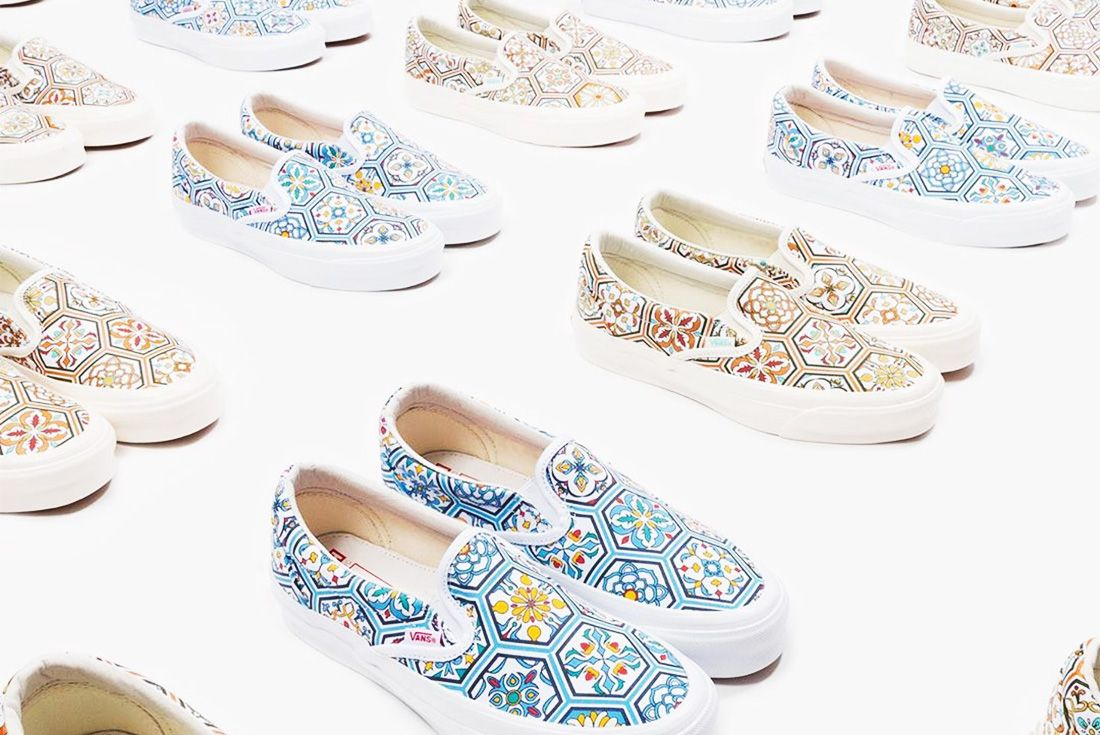 kith x vans slip on summer