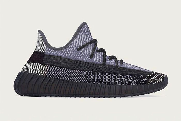 Yeezy 350 V2 Glitch Black Mock Up Side