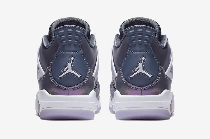 Air Jordan 4 Gs Monsoon Blue Bq9043 400 Release Date Heel