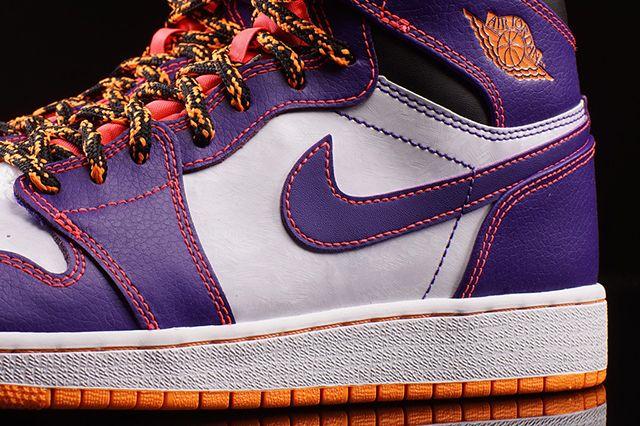 Air Jordan High Bg Court Purple Bright Crimson 2