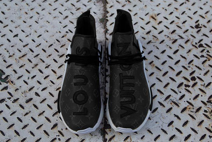 Pharrell Adidas Hu Nmd Louis Vuitton Black 4