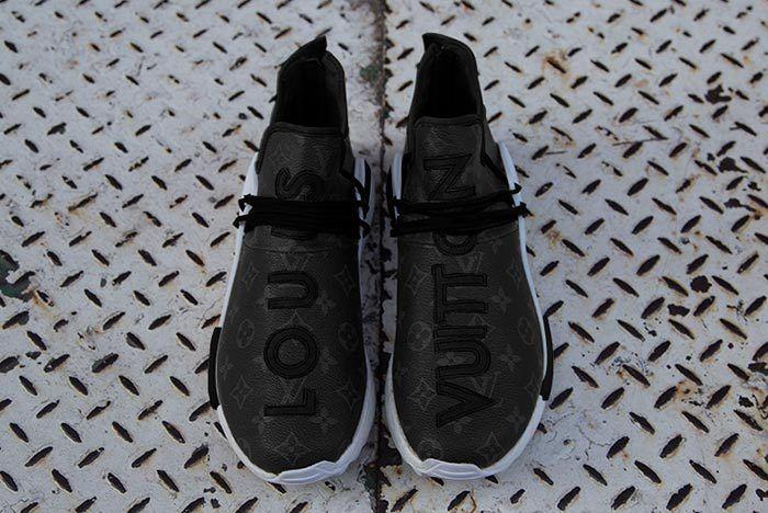 Pharrell Adidas Hu Nmd Louis Vuitton Black 4