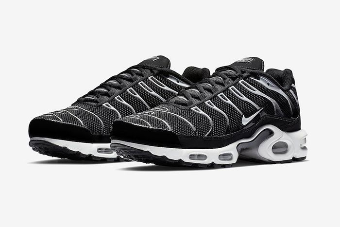 Nike Air Max Plus Black Reflective Silver Release Date Pair
