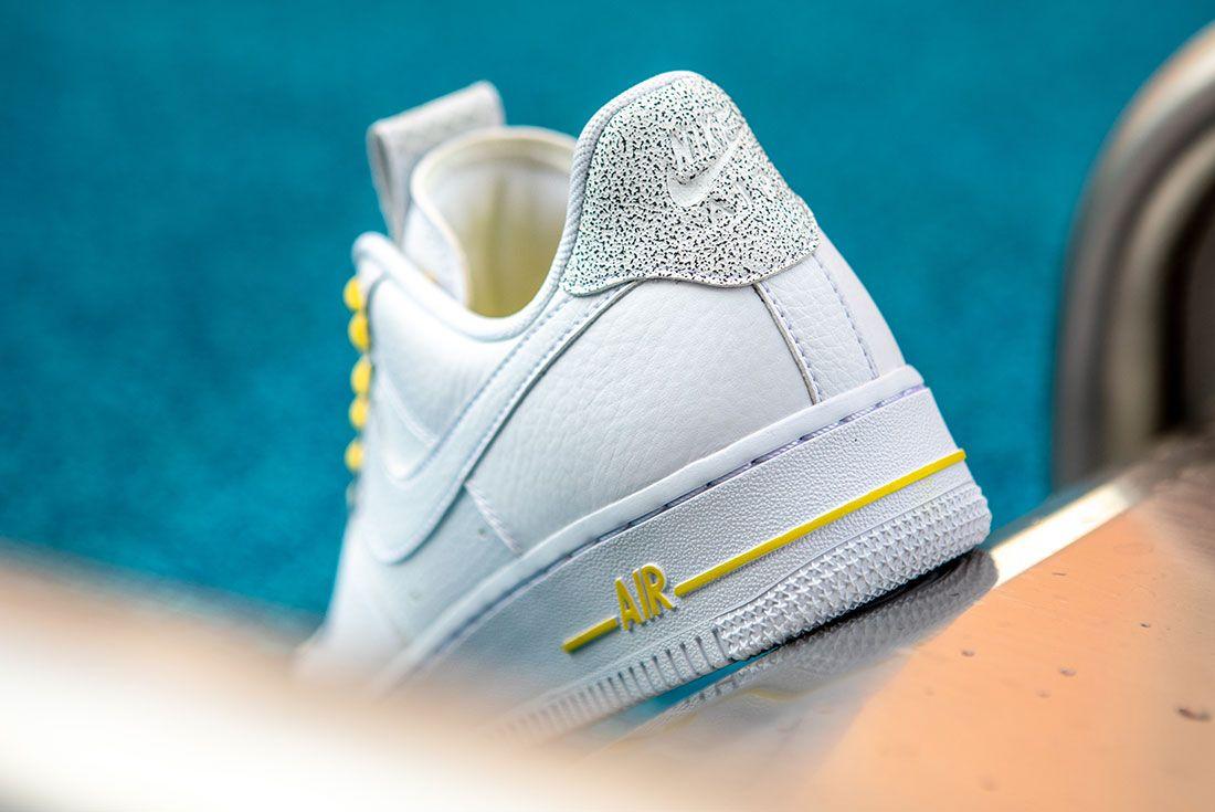 Nike Air Force 1 Womens Refective Black White2 Heel