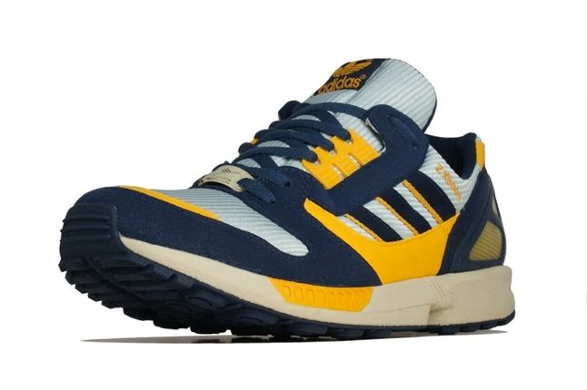 Adidas Zx 8000 Yellow Navy Toe Profile 1