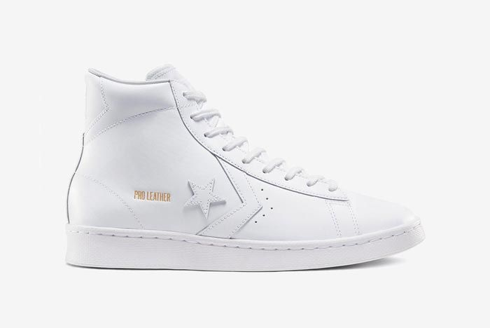 Converse Pro Leather Hi White Lateral