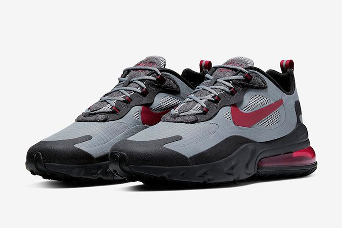 Nike Air Max 270 React Houndstooth Ct3135 001 Front Angle
