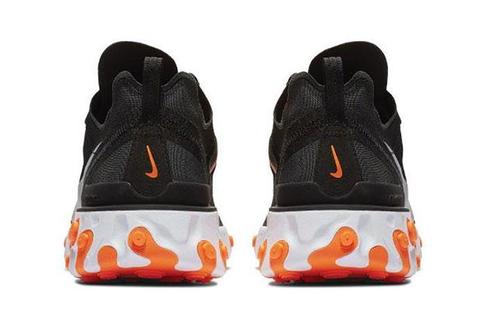 Nike React Element 55 Black Orange 4